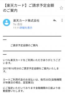楽天カード 不審メール