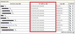 IX Web hosting Domain List